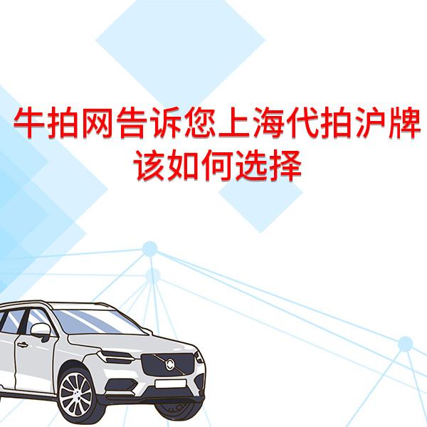 牛拍网告诉您上海代拍沪牌该如何选择